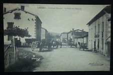 CPA 42 - Sorbiers - Le grand Quartier - La route sur Fontanès - Animée - Loire