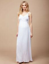 NWT Motherhood Maternity Petite White Cross Front Maternity Maxi Dress PS Sp