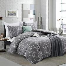 Modern 3 Piece Elegant Duvet Cover Reversible Bedding Set Double & King Sizes