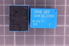 Relais Nr441  KF Doppelrelais 12v 2 Wechsler GOOD SKY SAM-SS-209DX 5Stück