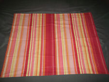 Pottery Barn Striped Standard Pillow Sham Stripe Red Pink Orange Yellow
