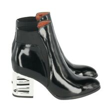 Jeffreycampbell Damen Stiefelette Stiefel Ankle Boot schwarz Leder