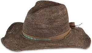 Pistil Women's Standard Janis Woven Straw Sun Hat, Brown One Size