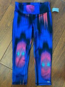 NEW girls GAP FIT ATHLETIC GYM PANTS dance capri cropped HIGH WAIST 7/8 medium