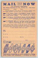 Tyrone Pennsylvania~Wilson Chemical Co~Salves-Cough Drops-Kit Order Form~c1905