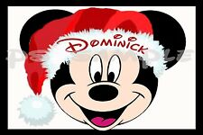 4x6 Disney Cruise Stateroom Door Magnet - CHRISTMAS MICKEY - Personalized