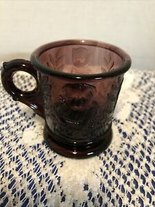 Vintage Amethyst Childs Mug With Dog And Cat Design