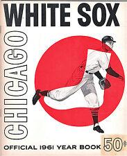 1961--WHITE SOX (FOX-APARICIO-MINOSO)-ORIGINAL YEARBOOK--NMT