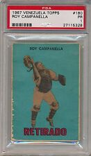 Roy Campanella 1967 VENEZUELA Topps #180 PSA 1