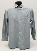 Charles Tyrwhitt Men's Dress Shirt 15.5 / 33 Blue & Green Gingham Check Plaid