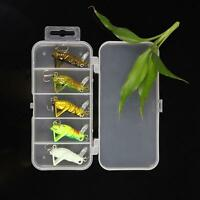 50Pcs Artificial Fishing Lures Grasshopper Baits Tackle Lot W/Box New Q8X8