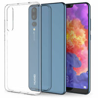 Official Huawei P20 Pro Streamlined Slim Silicone Rubber Gel Case Cover - Clear