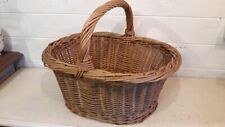 Ancien panier Campagne en osier - Vintage wicker basket - Alter Eierkorb