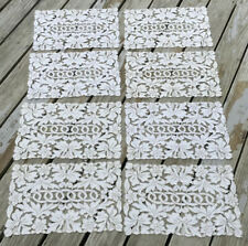 New listing Vintage Madeira Cutwork Embroidery Set Of 8 Placemats Linen
