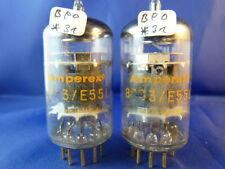 "Matched Pair E55L/8233 Amperex USA # ""ORANGE"" # NOS # TriMica (8645"