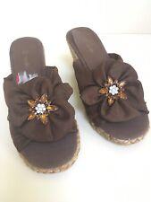 Wallis Brown Wedge Sandal Mules Size 4 ⭐️New ⭐️
