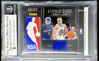 Stephen Curry & Ray Allen 2010-11 Black Box Passing The Torch Logoman /99 BGS 7