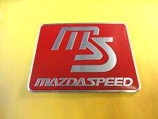 Aluminio cepillado rojo MS Mazda velocidad Rectangular Placa De Coche Placa