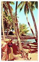 City of Refuge Honaunau Kona Hawaii Vintage Unposted Postcard F8