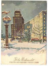Künstler Ak Weihnachten Stadt Berlin Lufthansa Denkmal im Schnee 1960 F. Skoda