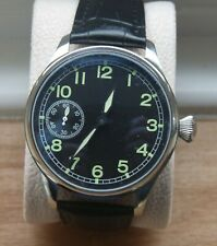 PARNIS 46mm 6497 type movt. Watch Black dial  IWC Military homage styling