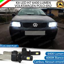KIT LAMPADE ANABBAGLIANTI LED VW POLO 6N2 LED H7 6000K 6400 LUMEN NO ERROR