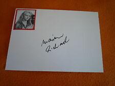 Marion Michael signed autographe 10x15 blanc carte Liane