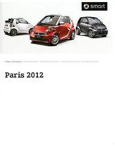 2012 SMART PARIS MOTORSHOW PRESSKIT PERSMAP PRESSEMAPPE DEUTSCH + DVD