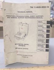 Technical Manual for the An/Psm-45 Digital Multimeter - P/N: Tm 11-6625-3052-14