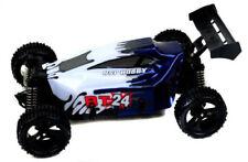 Voitures et motocyclettes de modélisme radiocommandées bleus 1:24