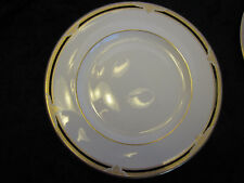 Pretty Royal Doulton ANDOVER H5215 Dinner Plate Ivory w/Blue Edge & Gold Trim