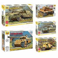 """Model Kits """"German tanks Armored forces 1943-45 WWII"""" snap fit 1:72 Zvezda"""