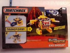 Matchbox ELITE RESCUE EXO SHIELD TRANSFORM Toy WITH POLICE VAN NEW BOXED