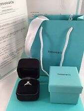 Tiffany & Co Gold & Platinum 0.56ct E/VS2 Brilliant Cut Diamond Engagement Ring