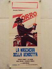 ZORRO LA MASCHERA DELLA VENDETTA regia Juan Merino locandina orig. 1971