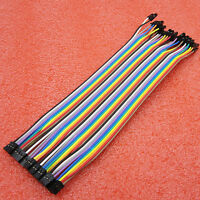 2.00mm to 2.54mm 40pcs in 1 Row Dupont Lines Wire Cable 2P to 1P Pin Head 20cm