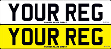 PAIR of Number Plates Standard Car Reg MOT Compliant & Road Legal Registration