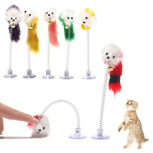Funny Cat Stick Elastic Bottom Sucker Mouse Vertical Stick Kitten Teaser Pet Toy