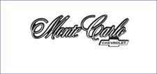 1976 1977 Monte Carlo and Chevrolet Rear Panel Emblem GM Restoration Part New