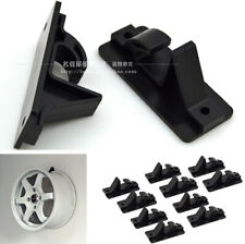10x Black Plastic Tire Wheel Hub Hook Shop Display Stand Wall Mount Accessories