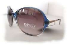 NWT TOMMY HILFIGER  ALLY  WPOL39 Womens Sunglasses Blue-Clear/Brown $60