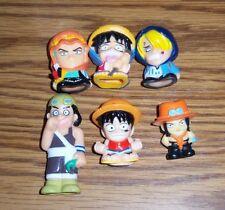 One Piece Ace, Luffy, Usopp, Sanji, Zoro Plastic Figure Lot