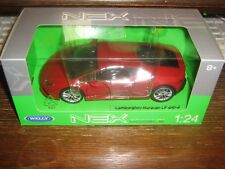 BY WELLY DIECAST - THE LAMBORGHINI HURRICANE LB 610-4 - IN RED - 1:24 Scale