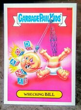 2015 Garbage Pail Kids Series One insert bonus Stickers Wrecking Bill B9A