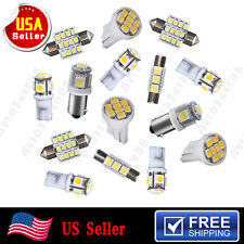 15PCS Xenon White LED Interior Package Kit T10 & 31mm Festoon Dome Map Lights