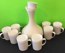 Vintage Therm Ware By David Douglas And Com Atomic Style Carafe 8 Matching Cups