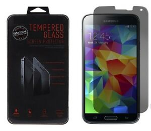 Anti-Spy Privacy Tempered Glass Screen Protector Film For Samsung Galaxy S5 SV