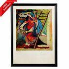 Pablo Picasso -Farmer´s Wife on a Stepladde, Original Hand Signed Print with COA