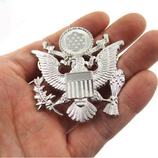 "Military WW2 US Army Officer Cap Hat Eagle Badge Pin Insignia Silver 2.2"" * 2.2"""