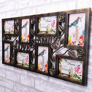MULTI PHOTO PICTURE FRAME HOLDS 8-10 PHOTOS APERTURE COLLAGE WHITE